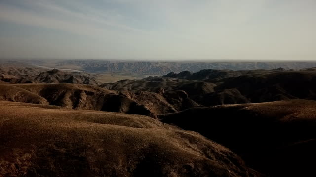 Canyon in the steppe footage taken by drones, flight over the rocks kazakhstan stock videos & royalty-free footage