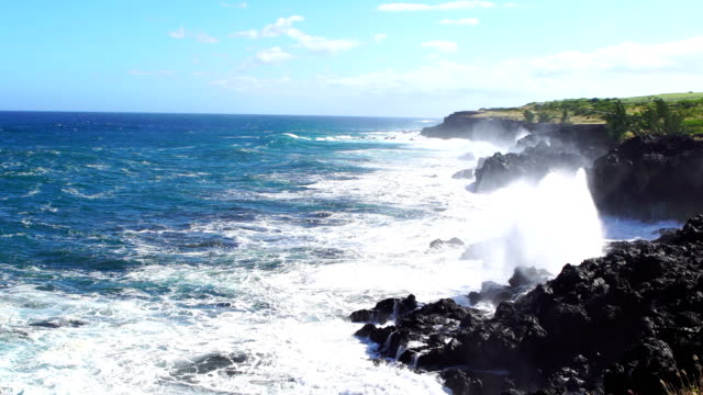cap malizé dit église requins - reunion island - reunion stock videos & royalty-free footage