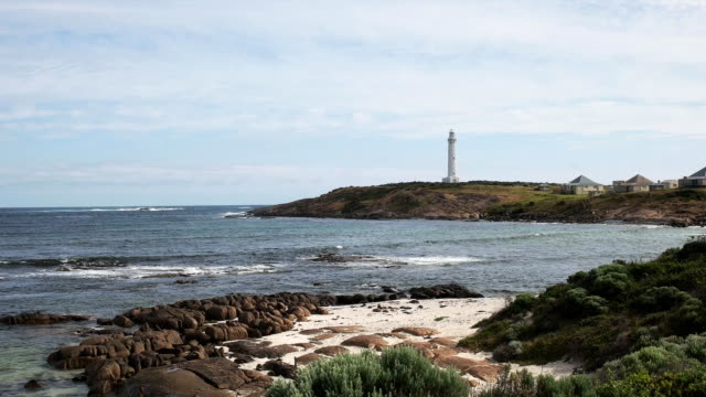 cape leeuwin lighthouse and beach - western australia stock videos & royalty-free footage
