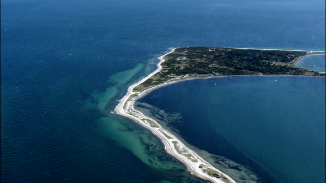 Cape Page Bay - Aerial View - Massachusetts,  Nantucket County,  United States video