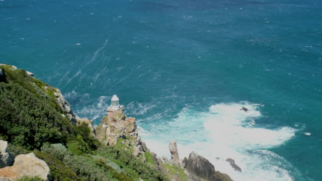 Cape Point, South Africa Seas breaking onto the rocks at Cape Point South Africa table mountain national park stock videos & royalty-free footage