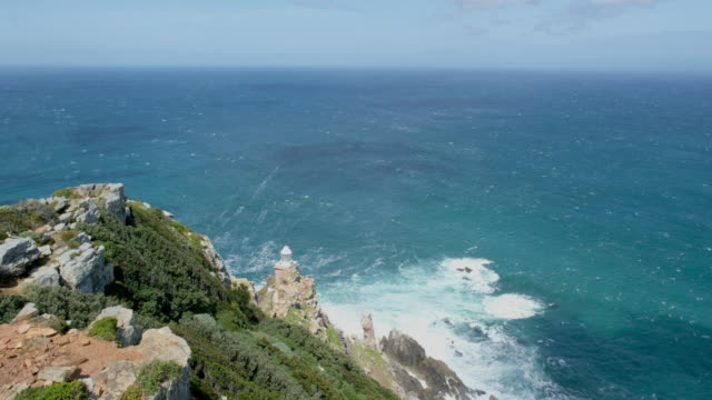 Cape Point, South Africa Seas breaking onto the rocks at Cape Point South Africa cape peninsula stock videos & royalty-free footage