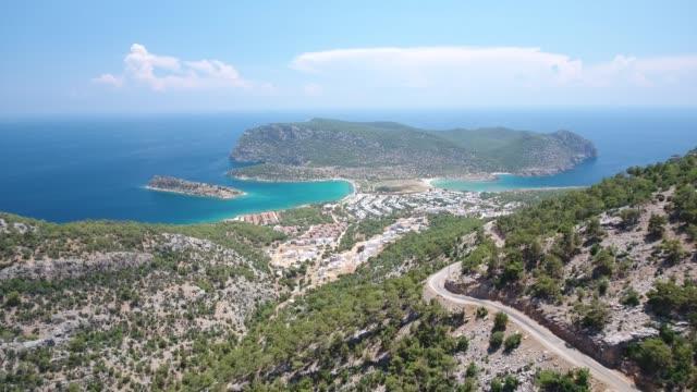 cape tisan vid medelhavets kust i mersin, turkiet. - anatolien bildbanksvideor och videomaterial från bakom kulisserna