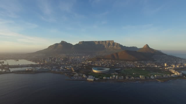 Cape Town Aerial, Clear Morning video
