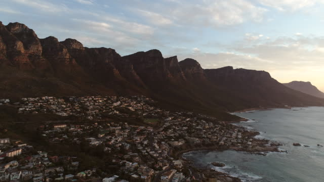 Cape Town Aerial View of Camps Bay video
