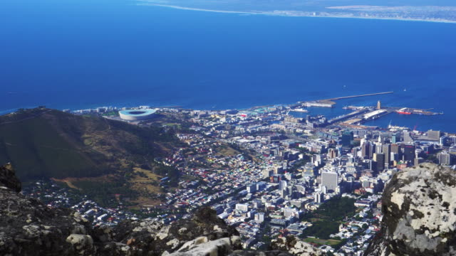 Cape town South Africa top view from table mountain