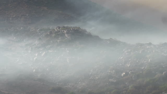 Cape Town-March,2015: The aftermath of devestating bush fires on Table Mountain video