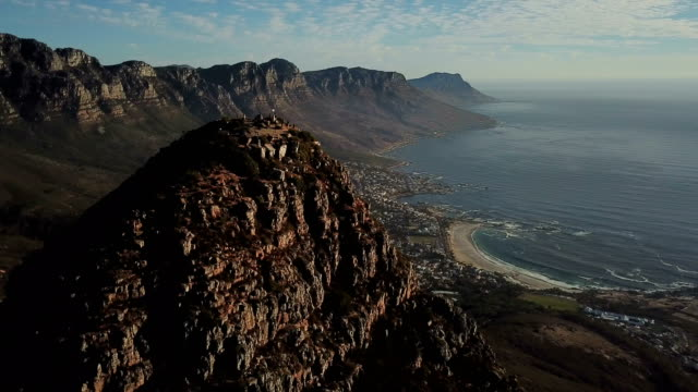 Cape Town's Iconic landmark Table Mountain Cape Town's Iconic landmarks Table Mountain and Lion's Head cape town stock videos & royalty-free footage