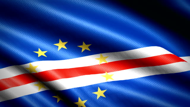 vídeos de stock e filmes b-roll de cape verde flag. seamless looping animation. 4k high definition video - cabo verde
