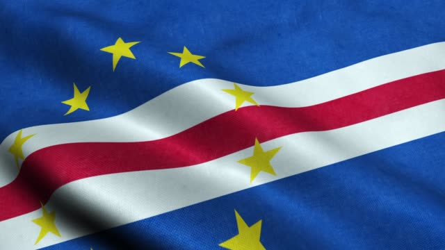 vídeos de stock e filmes b-roll de cape verde flag seamless looping waving animation - cabo verde