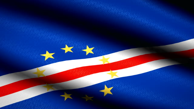 vídeos de stock e filmes b-roll de cape verde flag waving textile textured background. seamless loop animation. full screen. slow motion. 4k video - cabo verde