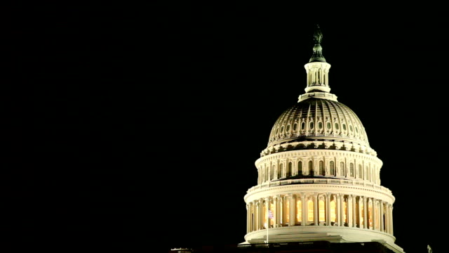 Capital Building at night video