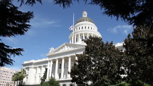 capital building - california video stock e b–roll