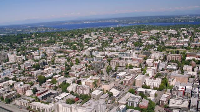 Capital Hill Seattle Neighborhoods Sunny Aerial