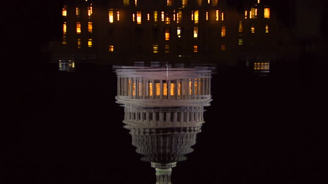 HD US Capital Night Tilt Up_3 (1080/24P) video