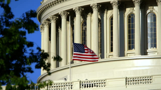 US Capital Tight Angle with Flag at Half Mast video