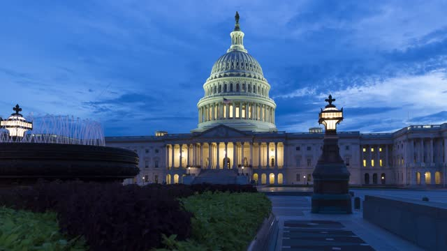 U.S. Capitol at politically dramatic times