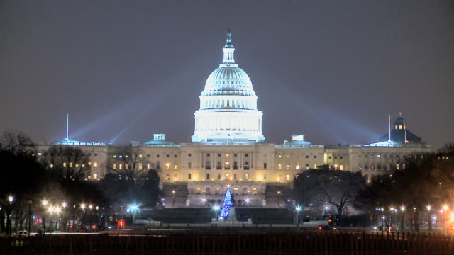 LOOP Capitol Building and National Christmas Tree video