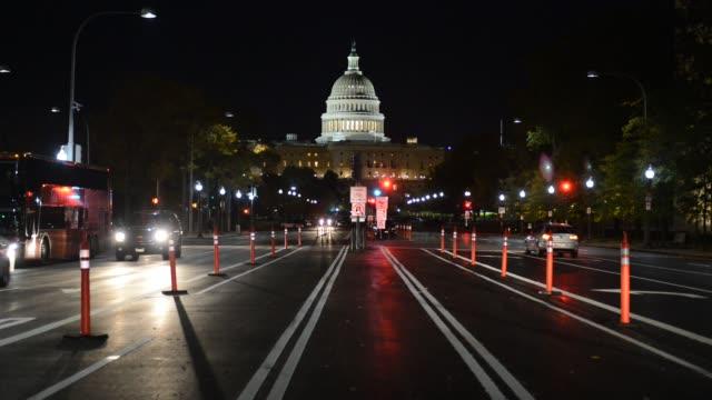 Le bâtiment du Capitole américain à Washington DC, USA - Vidéo