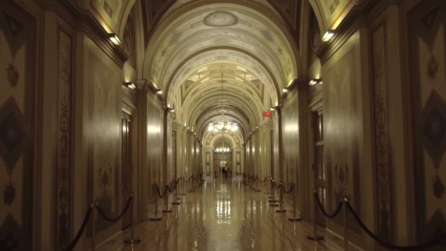 U.S. Capitol Building Senate Brumidi Corridor in Washington, DC video
