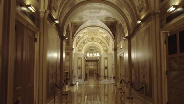 U.S. Capitol Building Senate Walking the Brumidi Corridor in Washington, DC video