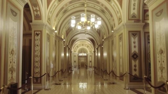 U.S. Capitol Building Walking the Senate Brumidi Corridor in Washington, DC
