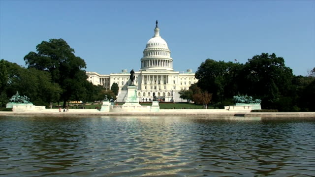 capitol in washinton dc, usa - neoclassical architecture stock videos & royalty-free footage