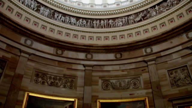 US Capitol Interior of Rotunda and Dome - TU video