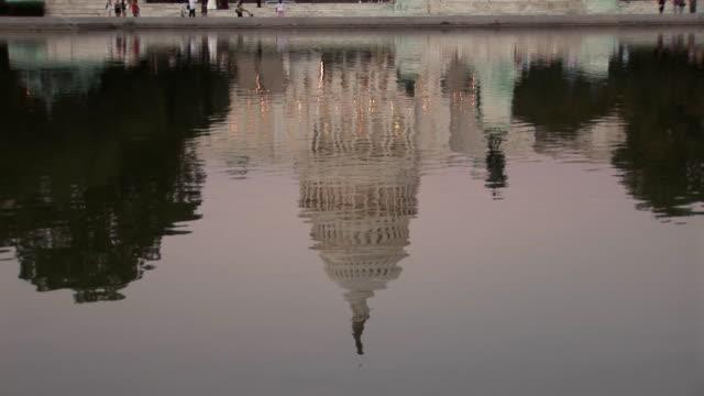 US Capitol - tilt up dusk video