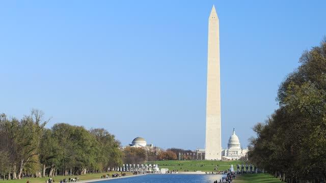 U.S. Capitol, Washington Monument, WWII Memorial, Lincoln Memorial Reflecting Pool - Washington, DC