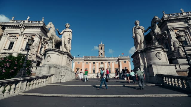 Capitoline Staircase and Piazza del Campidoglio in Rome video