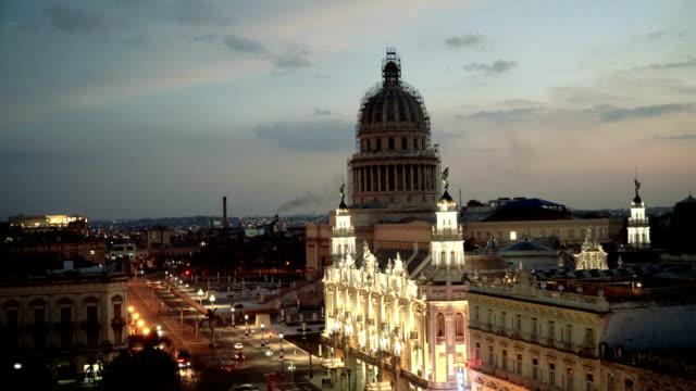 Capitolio at dusk in Havana, Cuba video
