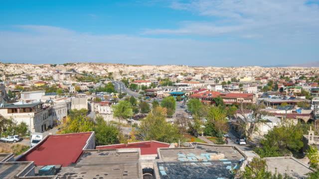 kappadokien stadssilhuett tid förfaller i goreme, turkiet - anatolien bildbanksvideor och videomaterial från bakom kulisserna