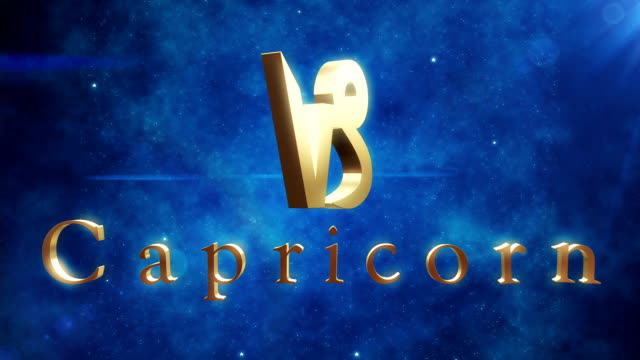 Capricorn (Zodiac Air Sign) | Loopable video