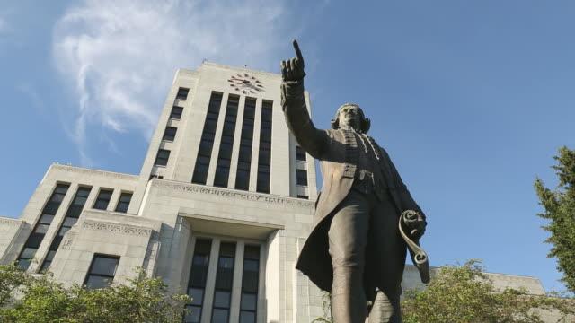 Captain Vancouver Statue, City Hall video