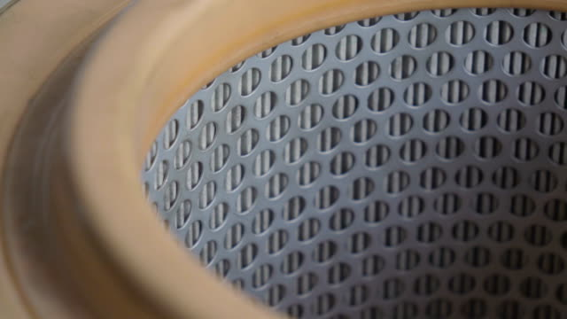 Car Air Filter Four Clips In One Stock Footage. video