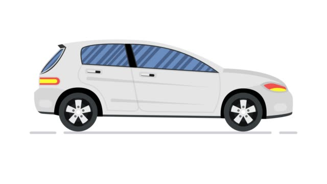 vídeos de stock, filmes e b-roll de animação de carro. sedan moderno. animação looped. resolução 4k - clip art