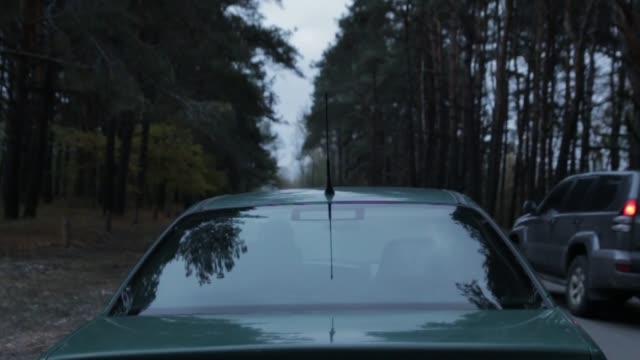 araba başlamadan önce - burnout stok videoları ve detay görüntü çekimi