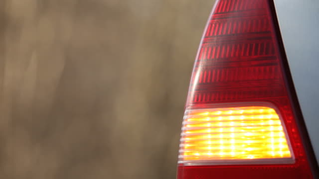 Car blinker close-up video