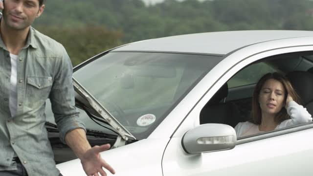 Car Breakdown in Road video