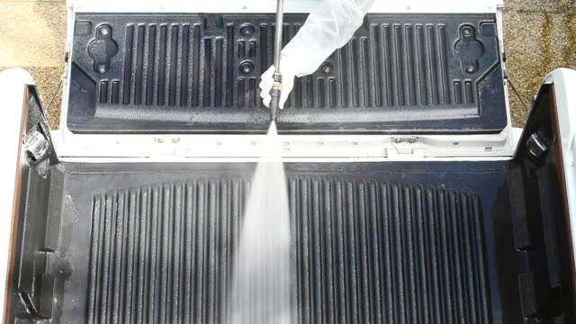 Car cleaning ,cleaning service concept. video