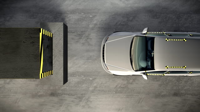 Car crash test video