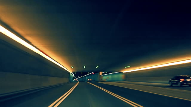 Car Dash Camera Time Lapse at Night in a Tunnel on the Highway Car Dash Camera Time Lapse at Night in a Tunnel on the Highway in Montreal City sports car stock videos & royalty-free footage