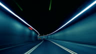 istock Car Dash Camera Time Lapse at Night in a Tunnel on the Highway 521343308
