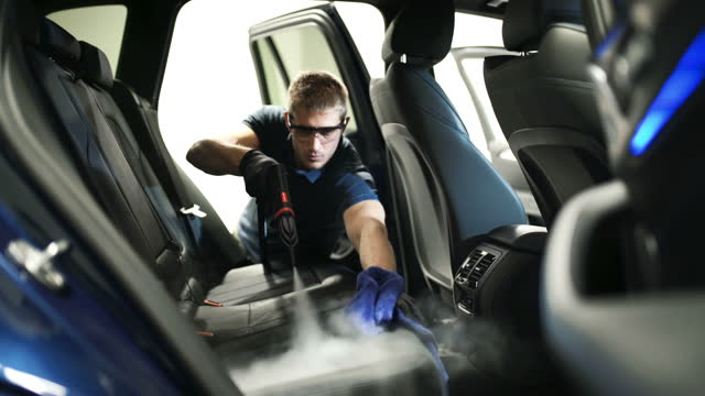 Car detailing service deep interior cleaning.