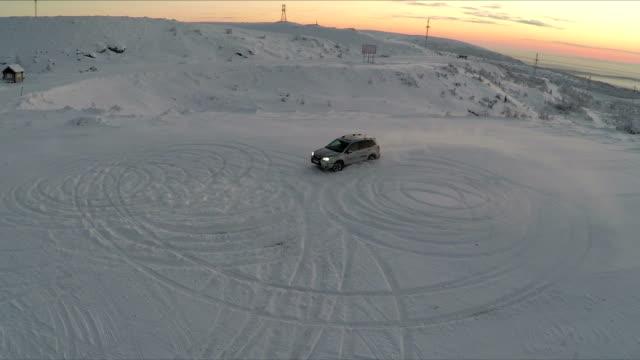 Car Drift In Snow video