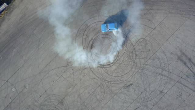 Car drifted in a circle on the track
