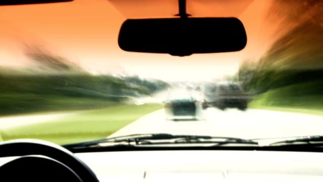 HD Car Drive Time Lapse video