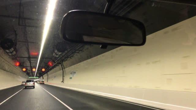 Car drive trough Waterview Tunnel in Auckland New, Zealand. video