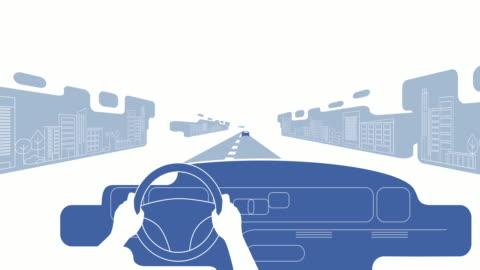 auto guida - animazione video stock e b–roll